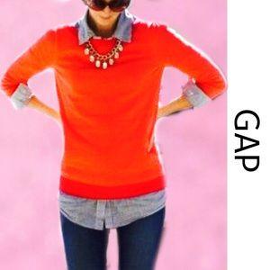 🌷GAP Brilliant Red Crew Sweater Small